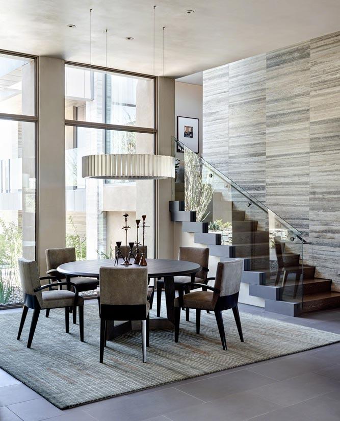 Contemporary Dining Room Interior Design In Az ǀ David Michael Miller